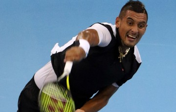 Nick Kyrgios in action at the ATP Malaysian Open; Getty Images