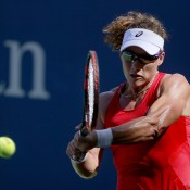Sam Stosur in action during her third-round victory over Sara Errani at the US Open; Getty Images