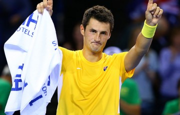 Bernard Tomic is celebrating reaching a new career-high. Photo: Getty Images