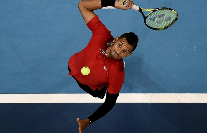 Nick Kyrgios in action at the ATP Malaysian Open in Kuala Lumpur; Getty Images