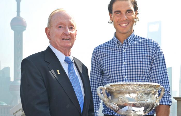 Rod Laver and Rafa Nadal launch Australian Open 2016