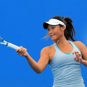 Priscilla Hon in action during Australian Open 2015 qualifying; Getty Images