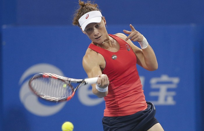 Sam Stosur in action at the China Open in Beijing; Getty Images