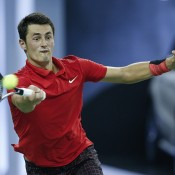 Bernard Tomic in action at the Shanghai Masters; Getty Images