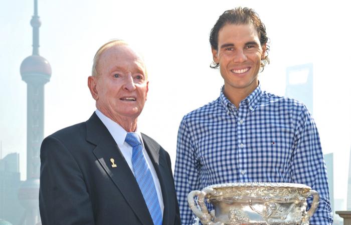 Rod Laver and Rafa Nadal