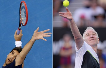 Mark Philippoussis (L) and John McEnroe will headline the Apia International Sydney Legends events in 2016; Getty Images