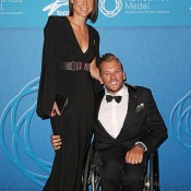Dylan Alcott (R) and partner  Kate Lawrance; Getty Images