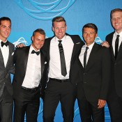 (L-R) Thanasi Kokkinakis, Lleyton Hewitt, Sam Groth, Peter Luczak and Chris Guccione; Getty Images