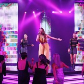 Ricki-Lee Coulter performs at the Newcombe Medal, Australian Tennis Awards; Getty Images