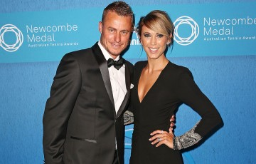 Lleyton and Bec Hewitt at 2015 Newcombe Medal. Photo: Getty Images