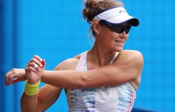 Sam Stosur trains at Melbourne Park ahead of Australian Open 2015; Getty Images
