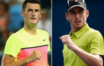 Bernard Tomic (L) and John Millman; Getty Images
