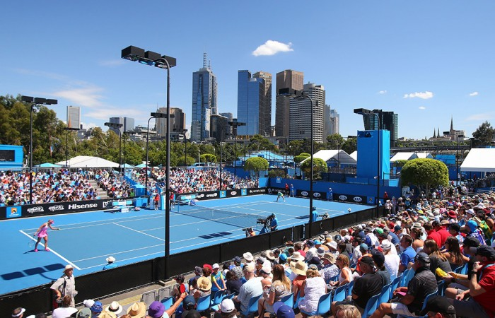 A general view over Melbourne Park during Australian Open 2015; Getty Images