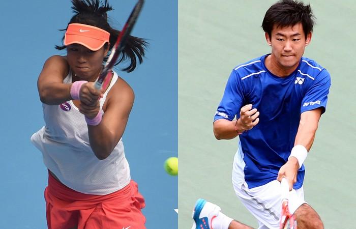 Han Xinyun (L) and Yoshihito Nishioka won the 2016 Australian Open Asia-Pacific Wildcard Play-off; Getty Images