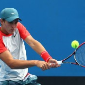 Oliver Anderson in action at Australian Open 2014; Getty Images