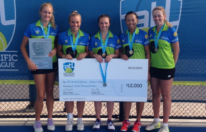 Canberra Velocity's Alison Bai, Tyra Calderwood, Kaitlin Staines, Ashley Keir and Alexandra Nancarrow
