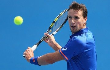 Kenny De Schepper in action at Australian Open 2015; Getty Images