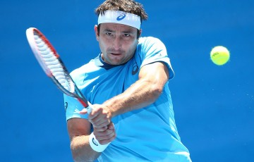 Marinko Matosevic in action at the Australian Open 2016 Play-off; Getty Images
