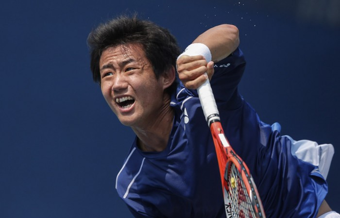 Yoshihito Nishioka in action at the 2015 US Open; Getty Images
