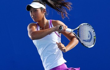 Priscilla Hon trains at the Queensland Tennis Centre ahead of Brisbane International 2016; Getty Images