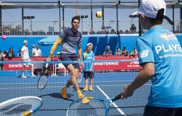 Australian Open 2016  Kids Tennis Day  Milos Raonic
