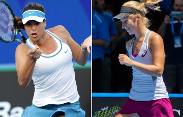 Daria Gavrilova (R) and Ajla Tomljanovic have received wildcards into the main draw at Apia International Sydney; Getty Images