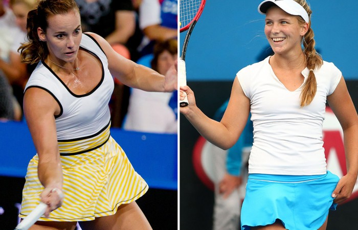 Jarmila Wolfe (L) and Maddison Inglis have received wildcards into the main draw of the Hobart International; Getty Images
