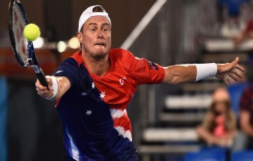 ADELAIDE, AUSTRALIA - JANUARY 13:  Lleyton Hewitt of Australia competes during the 2016 World Tennis Challenge match between Lleyton Hewitt of Australia and Marin Cilic of Croatia at Memorial Drive on January 13, 2016 in Adelaide, Australia.   (Photo by Daniel Kalisz/Getty Images)