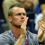 Lleyton Hewitt supports Nick Kyrgios at the 2015 US Open; Getty Images