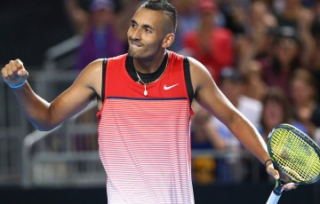 Nick Kyrgios downs Pable Cuevas in straight sets at Australian Open 2016; Getty Images