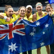 The Australian Fed Cup team of (L-R)