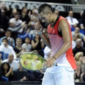 Nick Kyrgios in action during his final victory over Marin Cilic at the Open 13 in Marseille; Getty Images