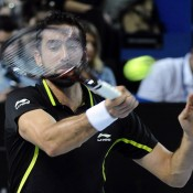 Marin Cilic in action during his final loss to Nick Kyrgios at the Open 13 in Marseille; Getty Images