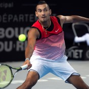 Nick Kyrgios in action during his semifinal victory over Tomas Berdych at the Open 13 in Marseille; Getty Images