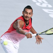 Nick Kyrgios in action during his quarterfinal victory over Richard Gasquet at the Open 13 in Marseille; Getty Images