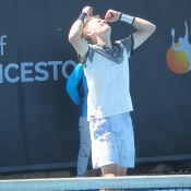 Blake Mott celebrates his victory at the ATP Challenger event in Launceston; Tennis Australia