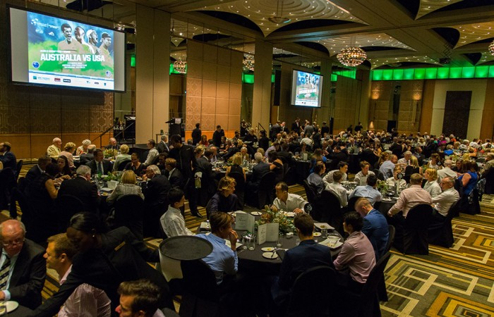 A general view of the Davis Cup official team dinner in Melbourne; SMP Images