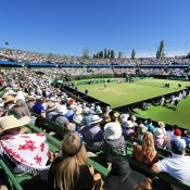 A general view over Centre Court at Kooyong Lawn Tennis Club; SMP Images