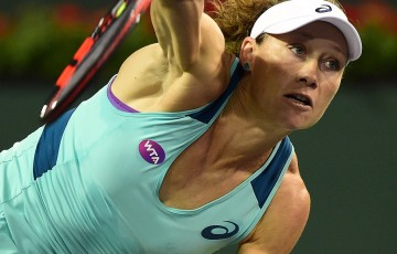 Sam Stosur in action at the BNP Paribas Open in Indian Wells; Getty Images