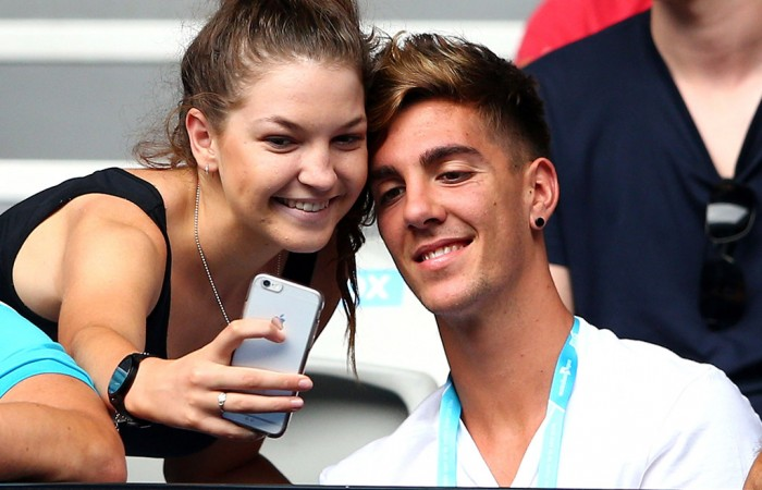 Thanasi Kokkinakis meets a fan during Australian Open 2016; Getty Images