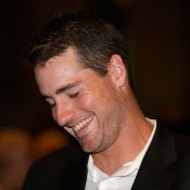 John Isner at the Davis Cup official team dinner in Melbourne; Getty Images