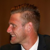 Sam Groth at the Davis Cup official team dinner in Melbourne; Getty Images