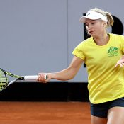 Daria Gavrilova has been working hard on the practice courts ahead of her first tie for Australia. Photo: Getty Images