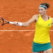 Sam Stosur came out firing, and won the first set in just 28 minutes. Photo: Getty Images
