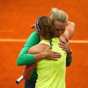 Captain Alicia Molik was quick to comfort Stosur. Photo: Getty Images