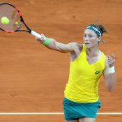 Stosur was broken in the eleventh game of the deciding set. Photo: Getty Images