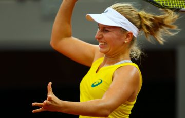 Daria Gavrilova was making her Fed Cup debut for the Green and Gold. Photo: Getty Images