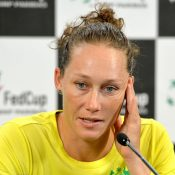 Sam Stosur was understandable disappointed after the match. Photo: Getty Images