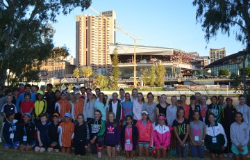 A group shot of competitors ahead of the Australian Grasscourt Championships in Adelaide; Tennis SA