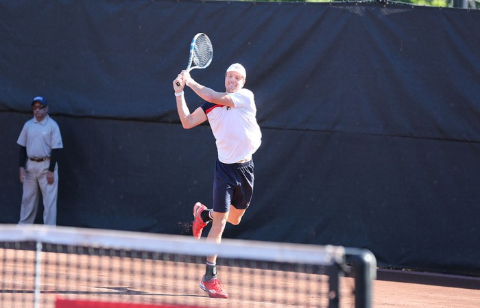 New South Wales' Matthew Barton in action in Houston. Picture: ATP World Tour
